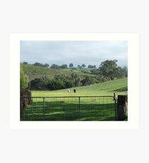 The Peaceful Countryside - Black & White Art Print