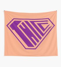 Thicc SuperEmpowered (Purple & Peach) Wall Tapestry