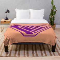 Thicc SuperEmpowered (Purple & Peach) Throw Blanket