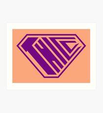 Thicc SuperEmpowered (Purple & Peach) Art Print