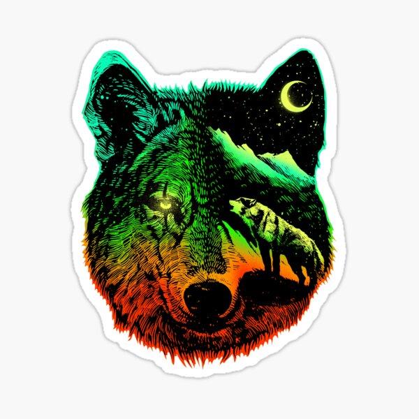 Nightwolf light Sticker