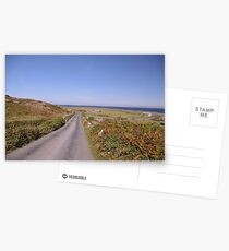 A quite road on the Aran Islands West of Ireland Postcards