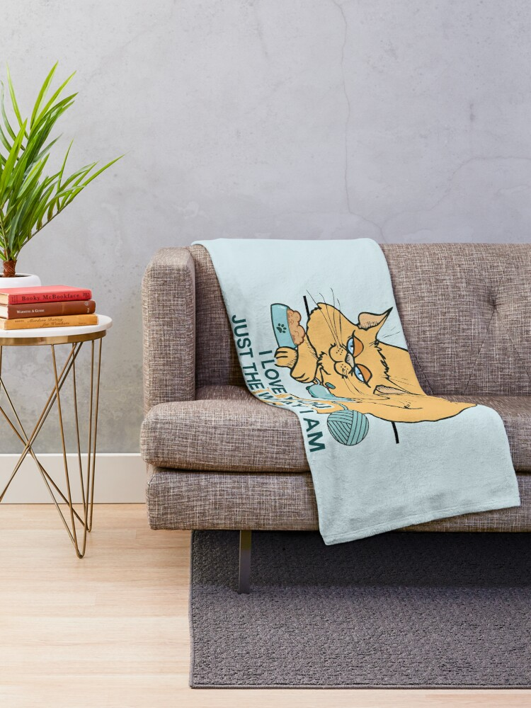 Alternative Ansicht von Lustiges Cartoon-Katzen-Sprichwort Fleecedecke