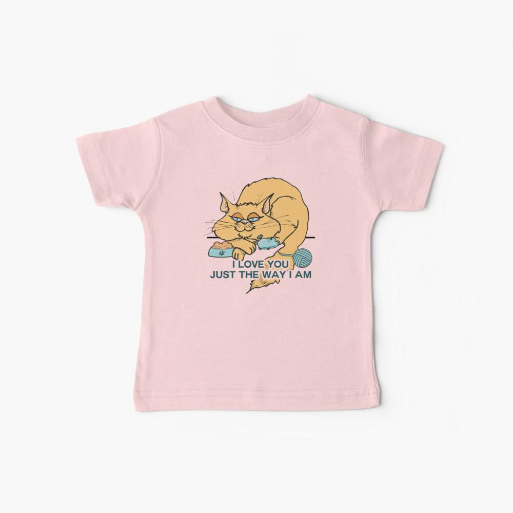 Lustiges Cartoon-Katzen-Sprichwort Baby T-Shirt