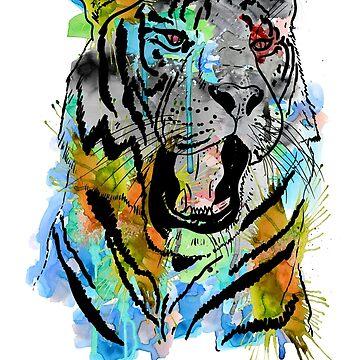 Watercolor Tiger by eZkun