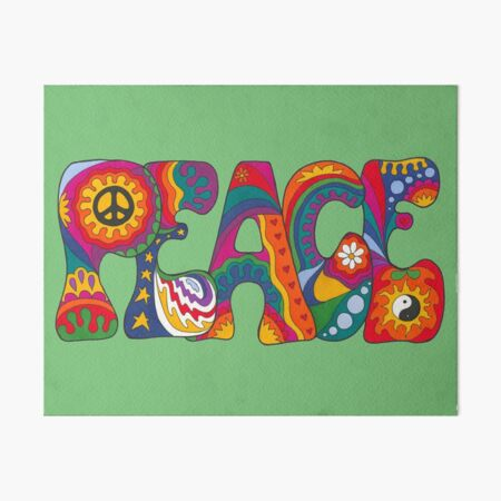 Psychedelic Peace Art Board Print