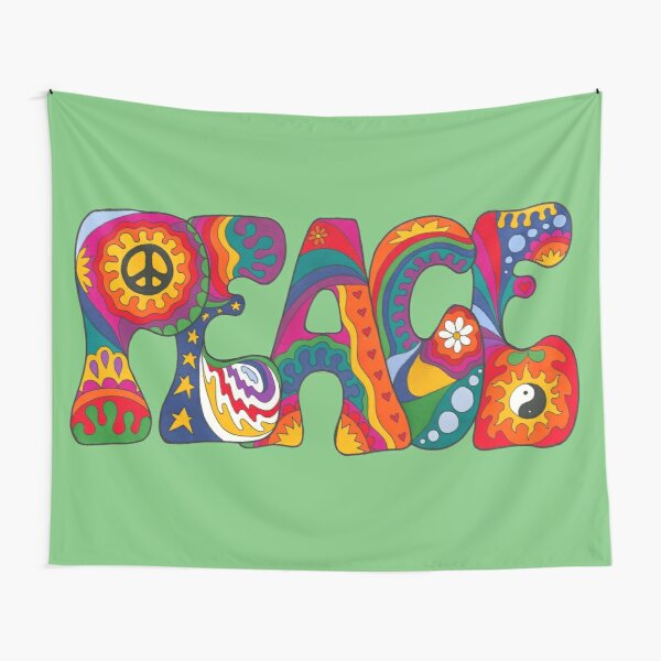 Psychedelic Peace Tapestry