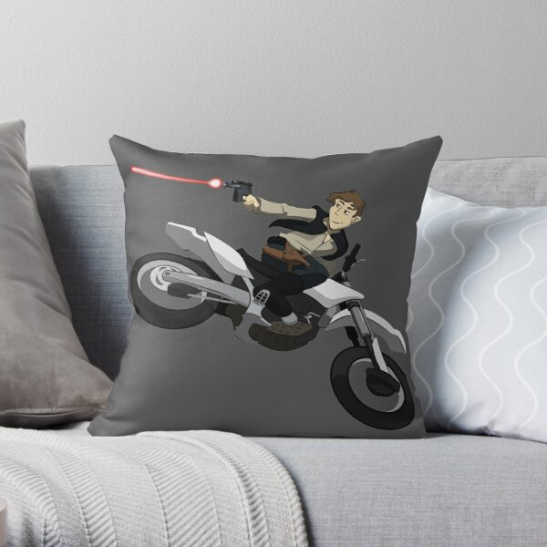 space outlaw dirt bike Throw Pillow