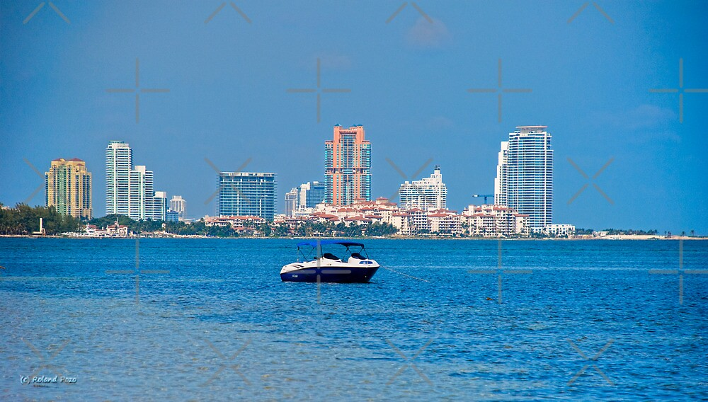 View of South Pointe and Fisher Island by photorolandi