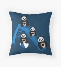 CUTE..PANDAS HAVING FUN..CHILDRENS (KIDS PILLOW-TOTE BAGS ECT) Throw Pillow