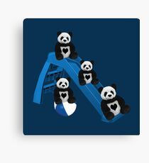 CUTE..PANDAS HAVING FUN..CHILDRENS (KIDS PILLOW-TOTE BAGS ECT) Canvas Print