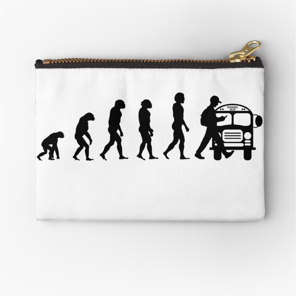 Vom Affen zum Telefonabhängigen in der Evolution der Menschheit Täschchen