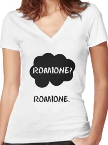 Romione - TFIOS Women's Fitted V-Neck T-Shirt