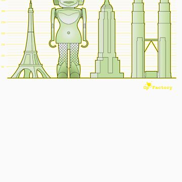 robodoll and skyscrapers by geppelin
