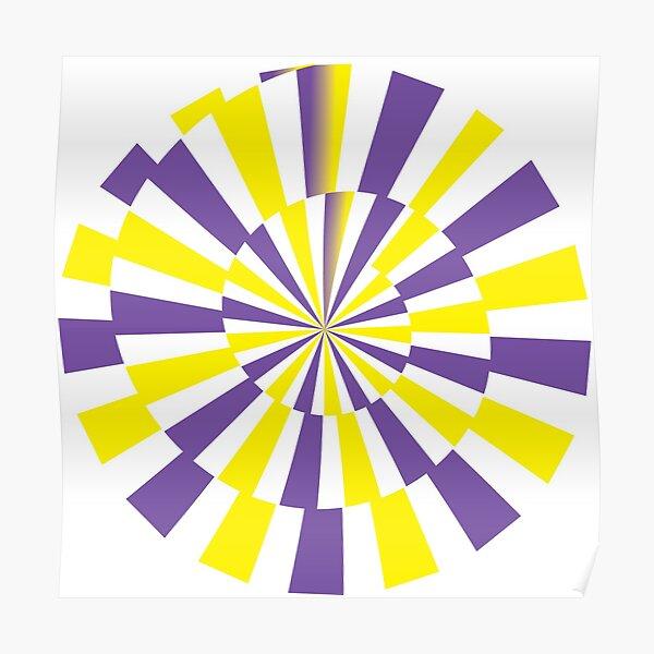 Floral Lightning Spiral Poster