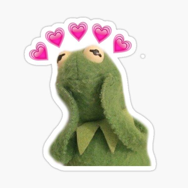Kermit with Hearts Sticker