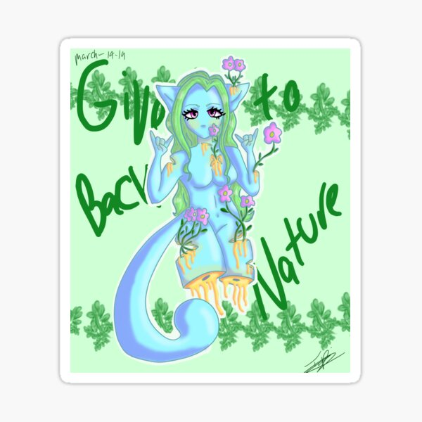 Give Back To Naure Sticker