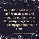 Zwischen dem Flüstern und dem Champagner und den Sternen - dunkler Jahrgang von peggieprints