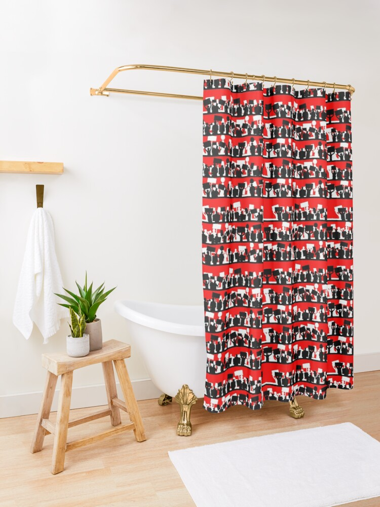 Alternate view of protest march Shower Curtain