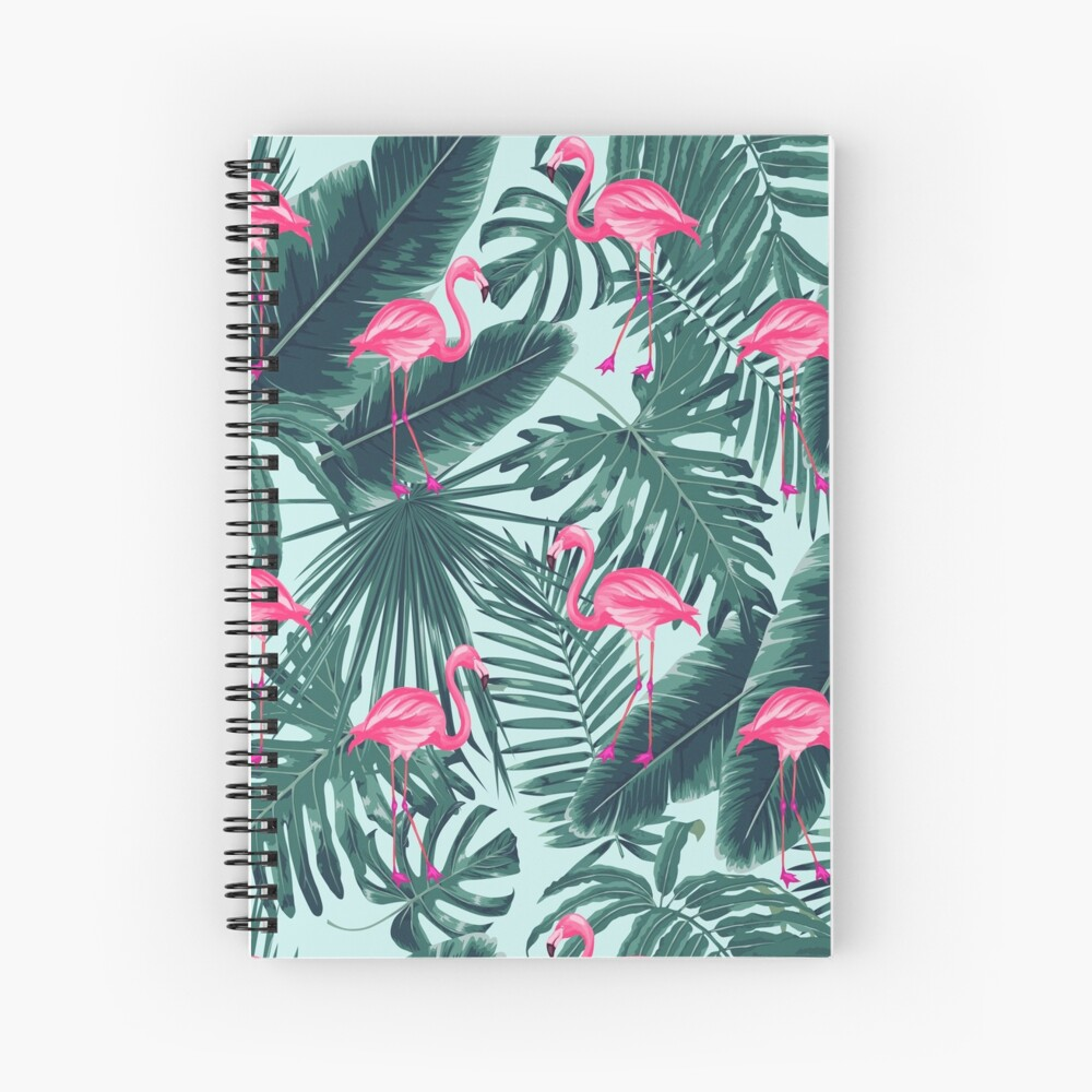 tropic abstract flamingo Spiral Notebook