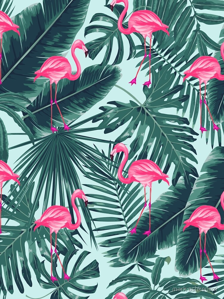 tropic abstract flamingo by motiashkar