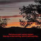 Red Sky at Night! by Barb Miller
