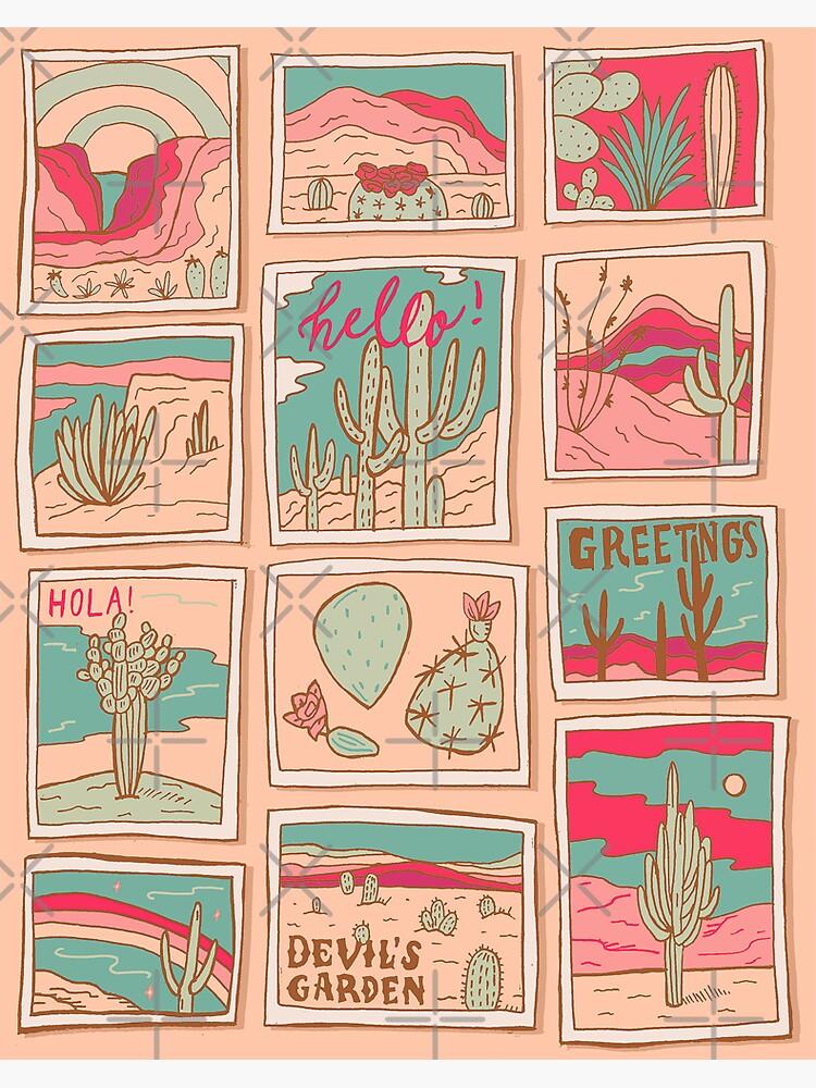 Retro Desert Postcards by doodlebymeg