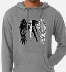 The Shadow Empire Black and white Lightweight Hoodie