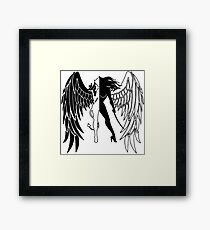 The Shadow Empire Black and white Framed Print