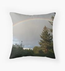 Rainbow, Inverness-shire, Scotland Throw Pillow