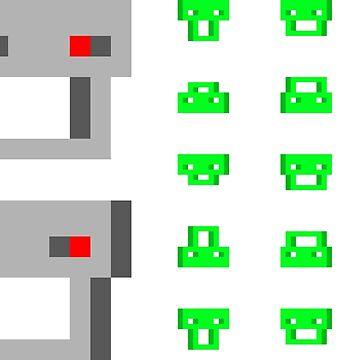 Indies VS Gamers 2084 - STICKER MEGA PACK 2 by Everandever