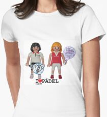 Playmobil padel girl Womens Fitted T-Shirt