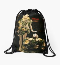A Floral Number Drawstring Bag