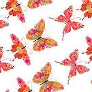 Butterflies In Orange and Pink by Debi Hudson
