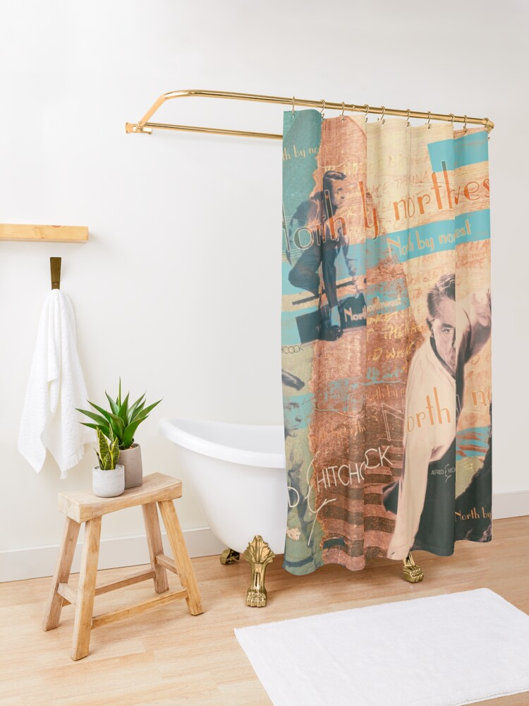 Alternate view of the invisible third Shower Curtain