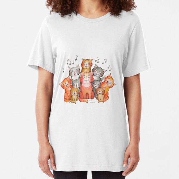 The Cat's Choir Slim Fit T-Shirt
