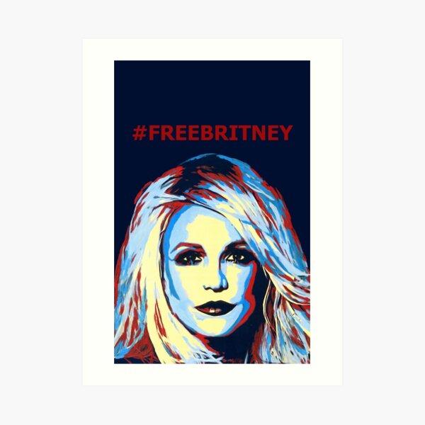 Girl Power Gift Britney Spears Illustrated iPhone Case Fun Pop Art Minimalist Art Print Free Britney Godney