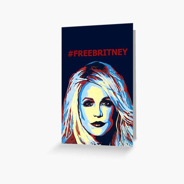 FREEBRITNEY Greeting Card