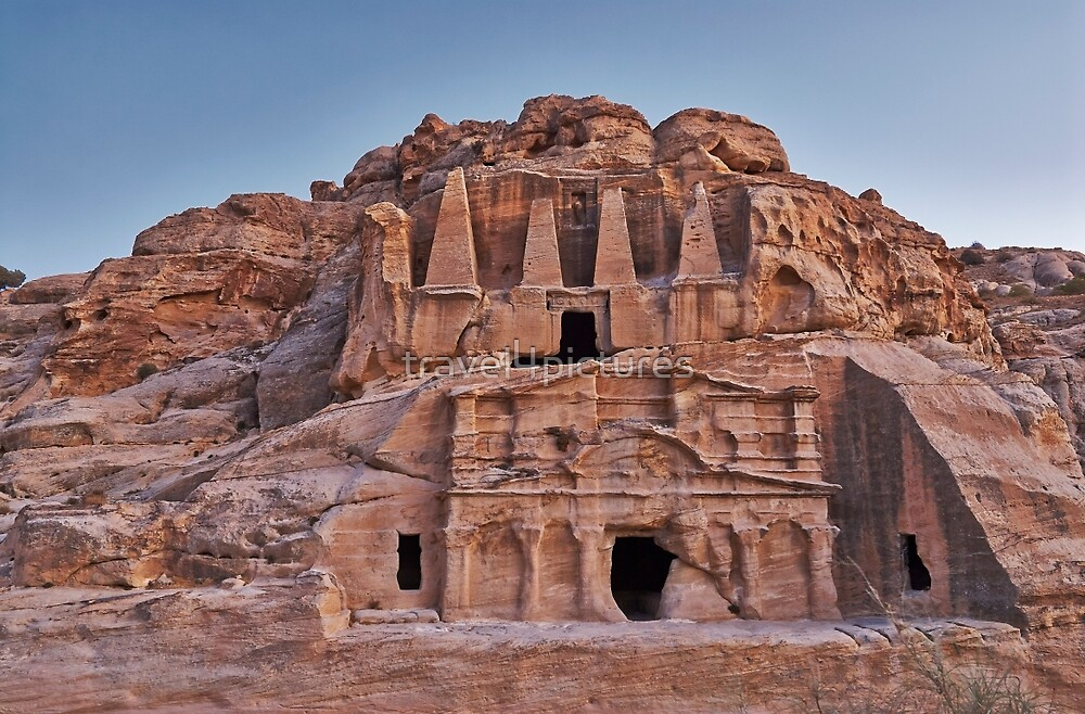 nabatean city Petra Obelisk Tomb by travel4pictures