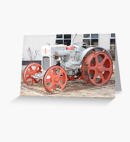 1928 Case Tractor Greeting Card