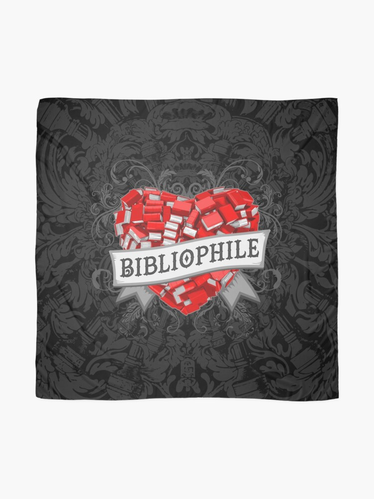 Alternate view of Bibliophile Heart Scarf