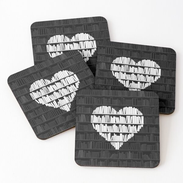 Book Lover Coasters (Set of 4)