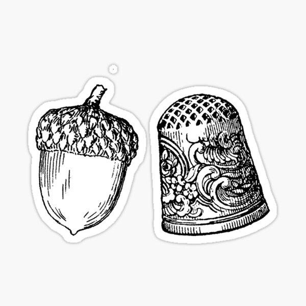 THIMBLE AND ACORN Sticker