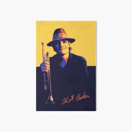 Chet Baker Art Board Print