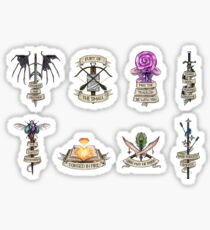 DnD - Kritische Rolle - The Mighty Nein Mini Selection Sticker