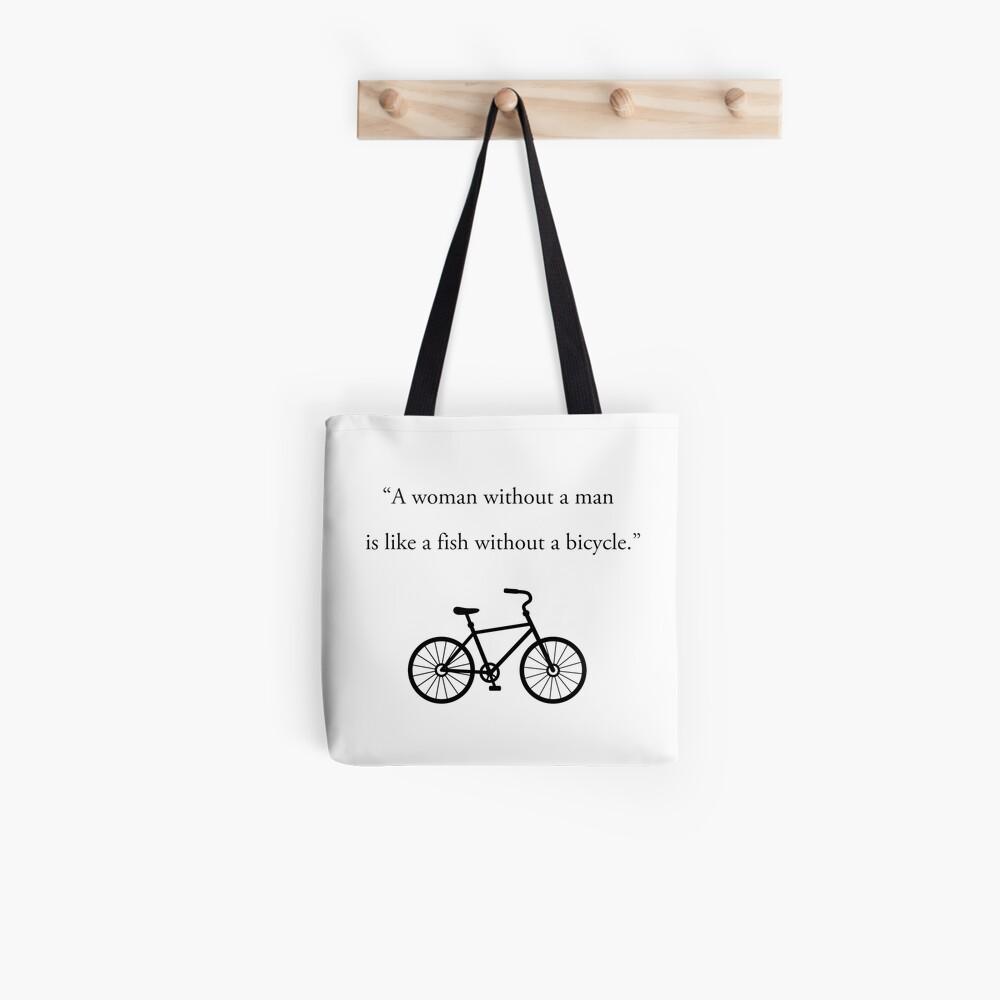 Feminismus Fahrrad Tote Bag