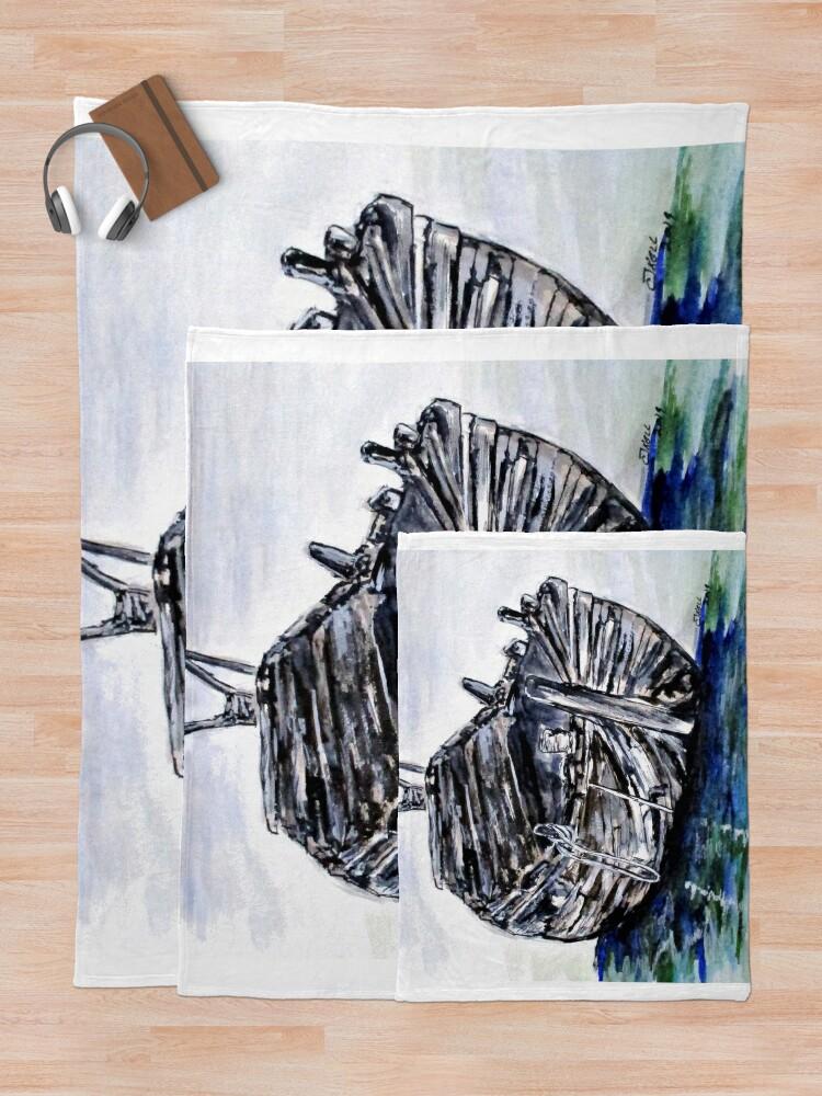 Alternate view of Broken But Afloat Throw Blanket