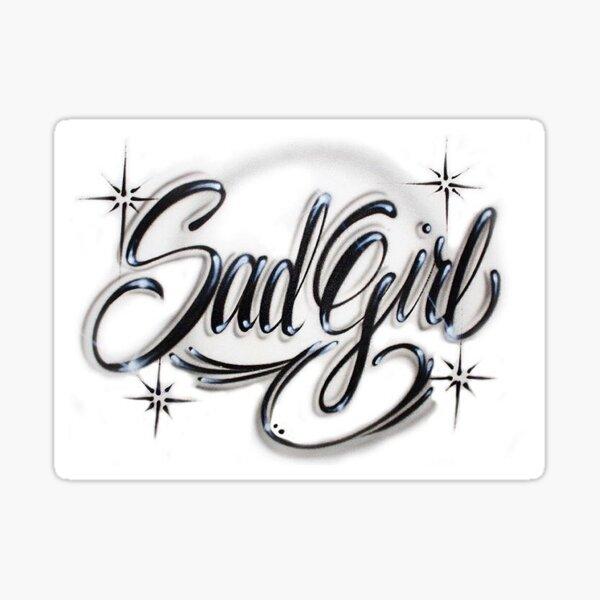 Sad Girl Sticker