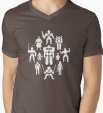 Plastic Heroes (w/Triangles) Mens V-Neck T-Shirt