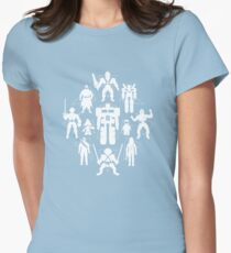 Plastic Heroes (w/Triangles) Womens Fitted T-Shirt